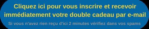 Bouton bleu texte jaune inscription cadeau