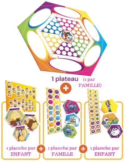 Version physique de l'organiseur WOODYS sur mesure, à partir de 3 ans et de 1 à 6 enfants !