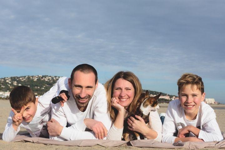 """La famille """"Woodys"""", de gauche à droite : Andy, Marc, Elisa et Maël."""