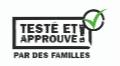 Logo testé et approuvé par des familles !